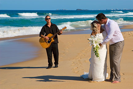 wedding guitarist beach